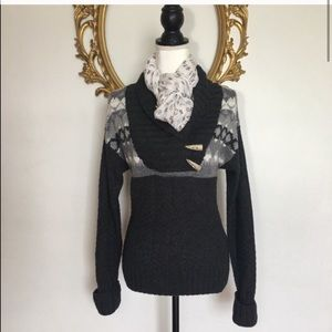 Northcrest Charcoal Wool Sweater Size S 6/8